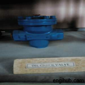 oil check valve