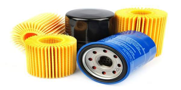 lubrication oil filter element for reciprocating air compressor